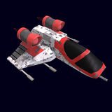 Sci fi spaceship in universe Stock Images