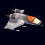 Sci fi spaceship in universe Stock Photos
