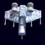 Sci fi spaceship in universe Royalty Free Stock Photo