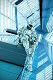 Sci-fi trooper waiting pose 3d illustration Royalty Free Stock Photo