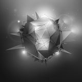 Sci-Fi Vector Illustration. Sci-Fi polygonal vector illustration. Technology vector background. Concept vector art. Abstract vector background. Vector wallpaper Stock Photography
