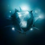 Sci-Fi Vector Illustration. Sci-Fi polygonal vector illustration. Technology vector background. Concept vector art. Abstract vector background. Vector wallpaper Stock Photos
