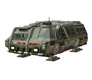 Sci-fi vehicle. 3D render of a sci-fi vehicle Royalty Free Stock Image
