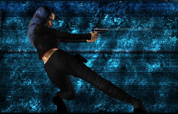 Sci Fi Woman With A Gun Royalty Free Stock Photos
