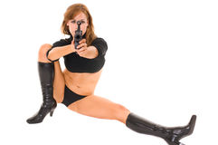 Sci Fi woman with gun Stock Images