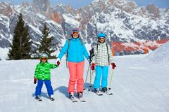 Sci, inverno, neve, sciatori Fotografie Stock