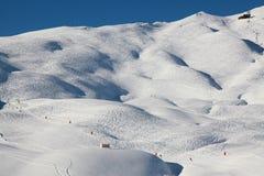 Sci-pendii svizzeri di Wengen Fotografia Stock Libera da Diritti