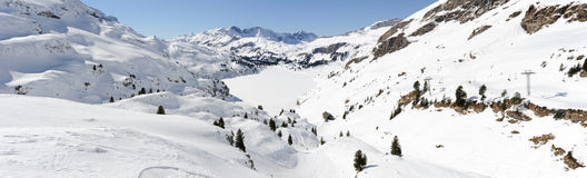 Sci slope of Engelberg Royalty Free Stock Image