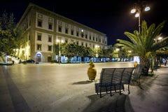 SCIACCA ITALIEN - Oktober 18, 2009: Angelo Scandaliato Square in Royaltyfri Bild