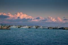 SCIACCA ITALIEN - Oktober 18, 2009: panoramautsikt av kustlinje I Arkivbilder