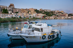 SCIACCA, ITALY - October 18, 2009: panoramic view of coastline i. N Sciacca, Italy. Sciacca is known as the city of thermal baths since Greek stock image