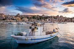 SCIACCA, ITALY - October 18, 2009: panoramic view of coastline i Royalty Free Stock Photos