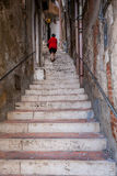SCIACCA, ITALY - October 18, 2009: the staircase that descends f Royalty Free Stock Photos