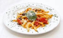 Scialatielli all'Amalfitana Italian pasta recipe Royalty Free Stock Photography