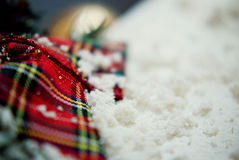 Scialle del plaid di Snowy Immagine Stock Libera da Diritti