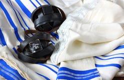 Scialle di preghiera - Tallit, simbolo religioso ebreo Immagine Stock Libera da Diritti