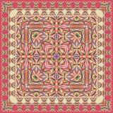 Scialle geometrico unico astratto, sciarpa, modello del fazzoletto da collo Immagini Stock