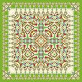 Scialle geometrico unico astratto, sciarpa, modello del fazzoletto da collo Fotografie Stock