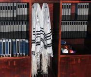 Scialli di preghiera ebrei Fotografie Stock Libere da Diritti