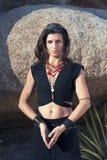 Sciamano Woman Priestess Portrait fotografie stock libere da diritti