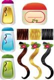 Sciampo dei capelli Immagine Stock