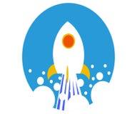 Sciance-Raketenlogo lizenzfreie stockbilder