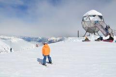 Sciando in Austria Fotografia Stock