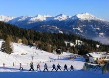 Sciando in Austria Fotografie Stock Libere da Diritti