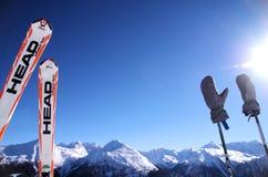 Sciando in cattivo Gastein, l'Austria Immagini Stock Libere da Diritti