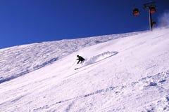 Sciando in cattivo Gastein, l'Austria Immagini Stock
