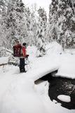 Sciando in Finlandia fotografia stock libera da diritti