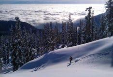 Sciando in Gulmarg Fotografia Stock