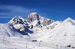 Sciando in La Thuile Italia Fotografie Stock