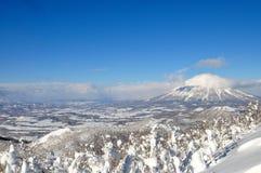 Sciando nell'Hokkaido, il Giappone Immagini Stock Libere da Diritti