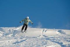 Sciando nella neve fresca della polvere Fotografia Stock