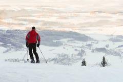Sciando nelle alpi bavaresi Immagine Stock
