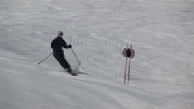 Sciando in Saalbach-hinterglemm Austria archivi video