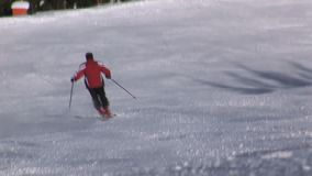 Sciando a Saalbach-hinterglemm Austria archivi video