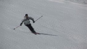 Sciando in Saalbach-hinterglemm Austria archivi video