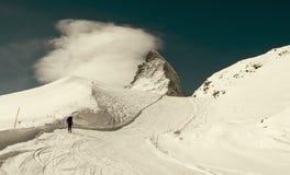 Sciando in Svizzera Immagini Stock Libere da Diritti
