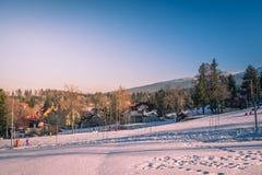 Sciando in Szklarska Poreba Immagini Stock