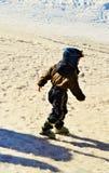 Sciando, un'avventura Immagini Stock Libere da Diritti