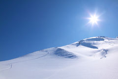 Sciando un giorno pieno di sole del perfekt Fotografia Stock