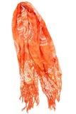 Sciarpa arancione Fotografie Stock Libere da Diritti
