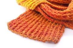 sciarpa arancione delle lane Fotografie Stock