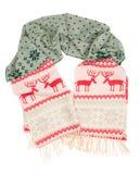 Sciarpa calda di inverno con un cervo del reticolo Fotografia Stock Libera da Diritti