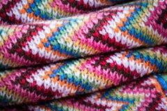 Sciarpa colourful della lana Fotografia Stock Libera da Diritti