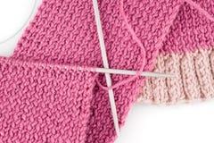 Sciarpa di lavoro a maglia Immagine Stock Libera da Diritti