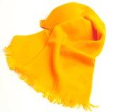 Sciarpa gialla di Orangey Fotografie Stock
