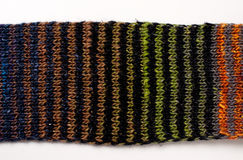Sciarpa lavorata a maglia variopinta Fotografia Stock